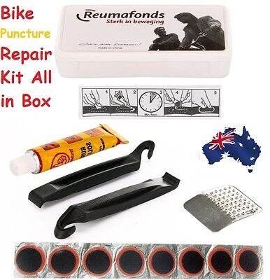 Cycling Bicycle Bike Tire Tyre Puncture Repair Tool Kit Rubber Patch Glue Levers
