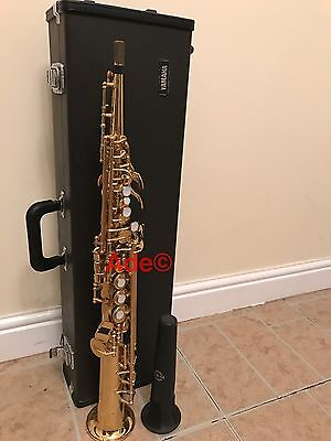Excellent Condition Yamaha Yss-475 Soprano Saxophone  + Hard Case