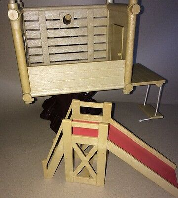 Vintage 1980's Sylvanian Families Tree House With Slide