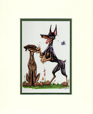 Mini Print Doberman by Mike McCartney