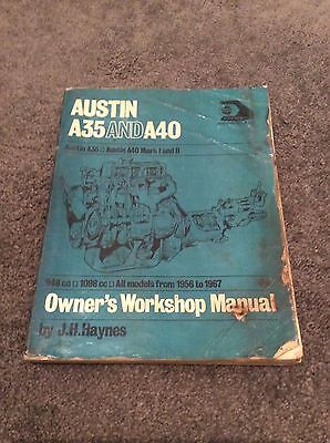 Haynes Manual Austin A35 And A40 Owners Workshop Manual
