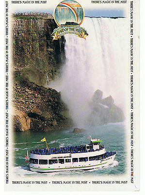 NIAGRA FALLS Canada Maid of the Mist Postcard - Canadian Stamp