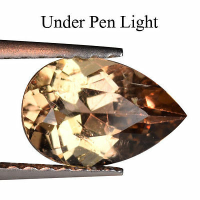 1.020cts ULTRA RARE COLOUR CHANGE BROWN NATURAL AXINITE PEAR LOOSE GEMSTONES