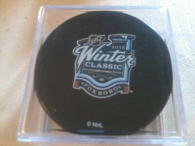 2016 NHL Winter Classic Used Puck Montreal Canadiens Boston Bruins