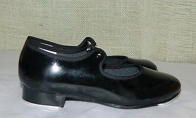 Leo's Tempo black patent  tap dance shoes Toddlers 10.5W   no ribbon lace