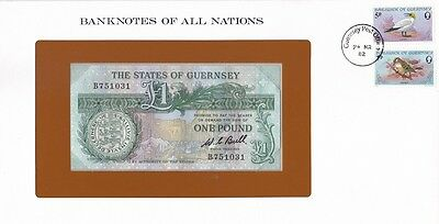 Guernsey - 1 Pound 1980 UNC P. 48 sign. Bull Banknotes of all Nations Lemberg-Zp