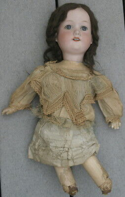 antique Victorian Era doll: bisque head Armand Marseille open mouth and teeth