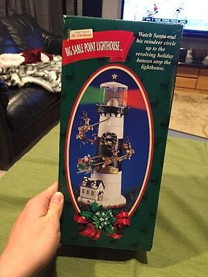 RARE NEW WITH BOX Mr Christmas Big Sable Point Lighthouse