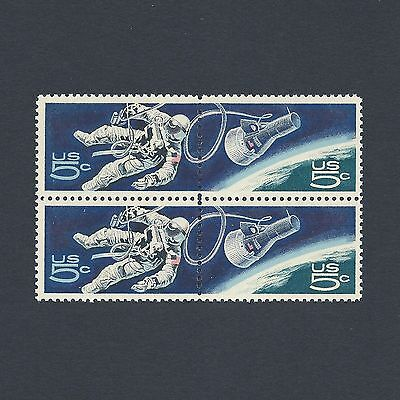 Gemini 4: First American Space Walk Vintage Mint Set of 4 Stamps 50 Years Old!
