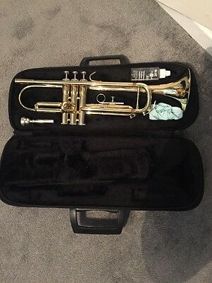 Trumpet- Jupiter 300. Brass. With Case And Cleaning Equipment
