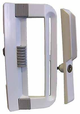 Ideal Security Inc. SK800KBL Patio Door Handle Set Keyed White