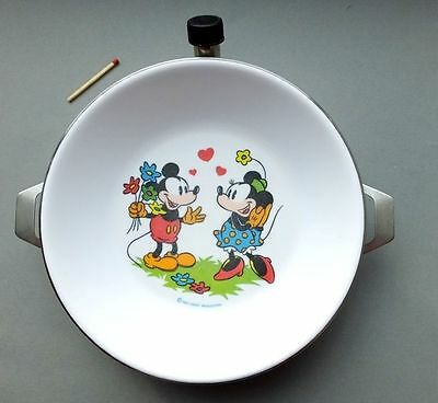 alter Warmhalteteller Kinderteller Teller Disney Mickey Mouse Micky Maus Minnie