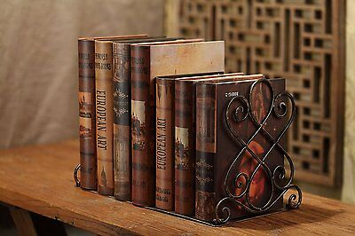 Decorative Heavy Duty Bookends - Metal Large Book Ends - Vintage Tall Books