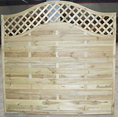 European Omega Wooden Fence Panels