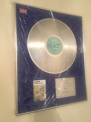 Saint Etienne -Heavenly Presented To Alan McGee Creation Records platinum Disc