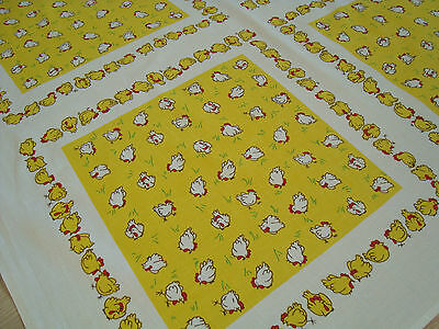 Vintage German Easter Linen decorative Tablecloth Table runner