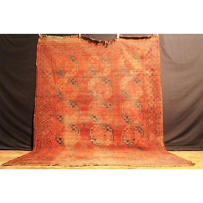 Antique Collector Piece Handknoted Afghan Esari Tappeto Carpet Old Rug 325x235cm
