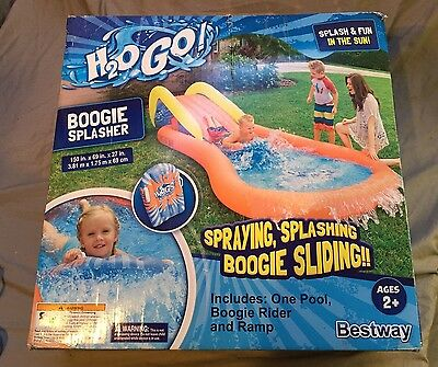 H2O Go! Boogie Splasher - Inflatable Water Slide And Pool