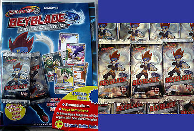 DeAgostini BEYBLADE Battle Card Trading Cards Starter Set Pack+10 Booster Tüten