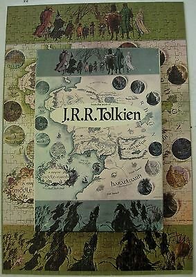 vintage 1971 Lord of the Rings Tolkien cardboard jigsaw puzzle 500 pc. complete