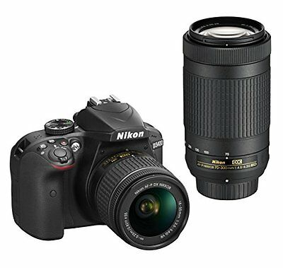 Nikon D3400 DSLR Camera with 18-55mm and 70-300mm Lenses (Black)!! BRAND NEW!!