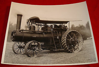 B&W 8X10 Glossy Photo Print Copy Frick Co Eclipse Steam Traction Engine