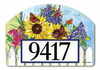 Butterflies and Blossoms Spring Yard DeSigns Magnetic Insert Address Marker