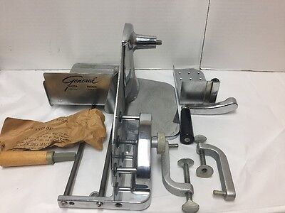 Vintage General Slicing Machine Meat Cheese Slicer Manual Crank Stainless Steel