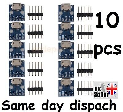 10 x pcs Stable MICRO USB To DIP Adapter 5pin Female Connector PCB Converter UK
