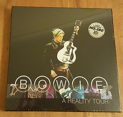 DAVID BOWIE -  A REALITY TOUR LIVE - 3 x BLUE VINYL - FRIDAY MUSIC - SEALED