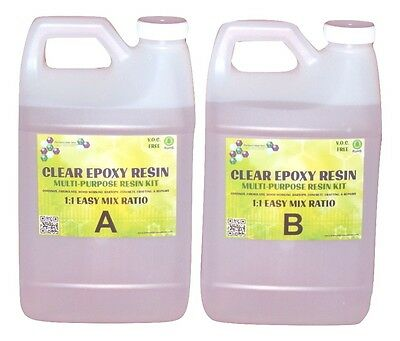Crystal Clear Epoxy Resin Coating For Wood Tabletop And Concrete - 2 Gals
