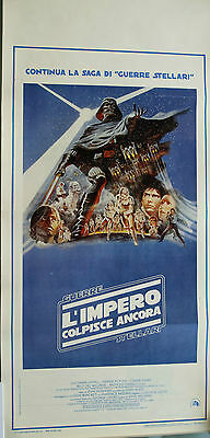 "THE EMPIRE STRIKES BACK POSTER Authentic 13""x27"" Italian STAR WARS"