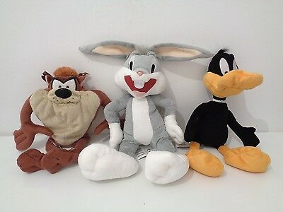 LOONEY TUNES - SET OF 3 SOFT TOYS from BOOTS - DAFFY DUCK, BUGS BUNNY & TAZ