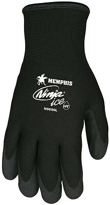 Memphis N9690L Ninja Ice Mechanic/Ice Fishing Gloves Size Large (3 Pair)