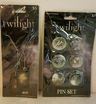 The Twilight Saga New Necklace and  Pin Set! With Edward Belle Jacob New