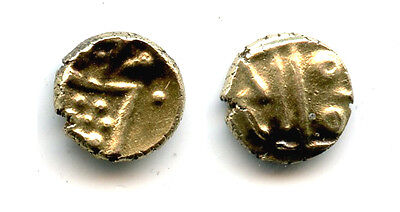 Rare gold fanam, Dutch VOC company in Tuticorin, 1658-1795, India (H#3.07.01)
