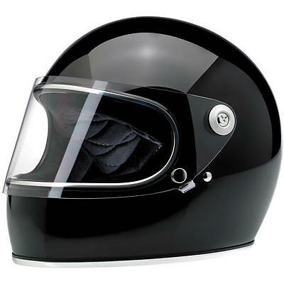 Biltwell Inc Gringo S Gloss Black Full Face Motorcycle Helmet