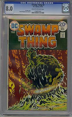 Swamp Thing #9 Cgc 8.0 Off-White Pages Dc