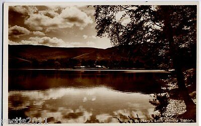 St Mary's Loch, Selkirkshire, Scotland vintage Real Photo Postcard - Tibbies