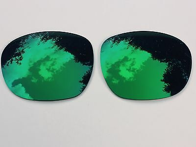 New Polarized Emerald Green Mirrored Replacement Oakley Garage Rock Lenses