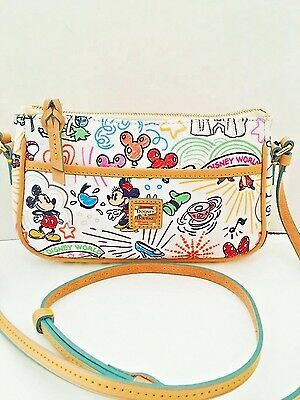 New Disney Dooney & Bourke Sketch Pouchette Crossbody bag