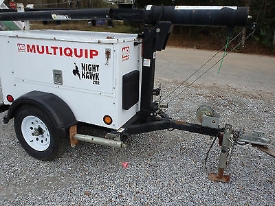 2012 MULTIQUIP  LT12D light tower, with generator, trailer mounted