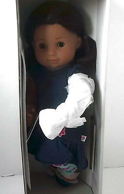 American Girl Bitty Twin 1 Doll Brown Parted Hair Brown Skin 5G NEW