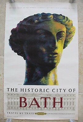 Original 1962 British Railways Poster Historic City of Bath Reginald Lander