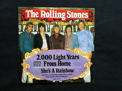 """The Rolling Stones - She's a Rainbow / 2000 Lightyears from Home (7"""" Singles)"""