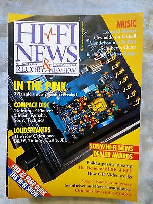 Vintage Hi Fi News magazine Sept 1988 – Triangles' new pre-amp review