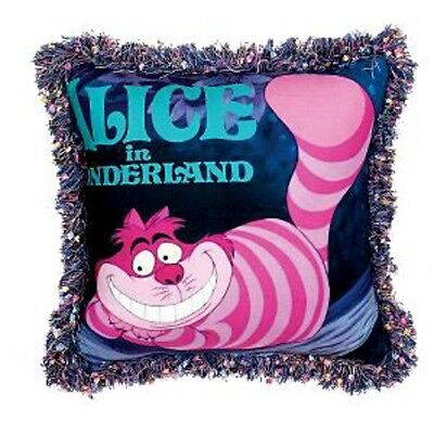 DISNEY Cheshire Cat  Alice in Wonderland Vtg Movie Poster Pillow Throw Sealed!