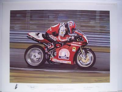 carl fogarty hand signed limited edition world superbike double dutch ducati
