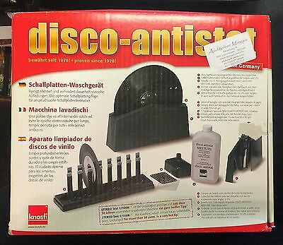 Disco Antistat Record Cleaning Machine Knosti Complete with Box New Cleaner Wash