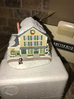 """Hawthorne Village  Rockwell Christmas """"Letters To Santa"""" Post Office"""